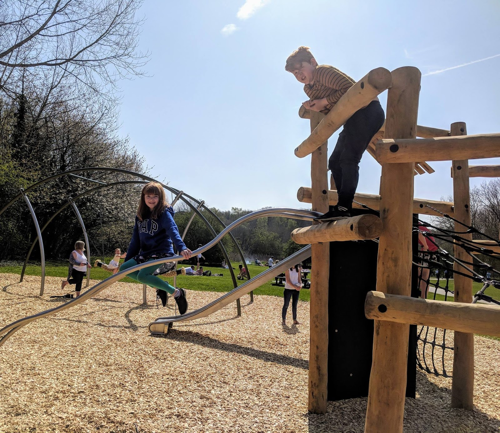 Plessey Woods Art Trail & New Play Park - climbing bars