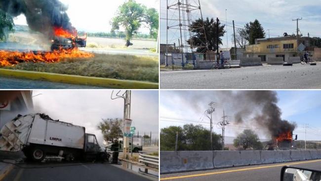 Guanajuato arde! reportan Narcobloqueos, quema de vehículos y ponchallantas en diversas carreteras del Estado