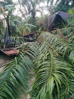 Prihatin Lihat Rumah Warganya Rusak Tertimpa Pohon,  Bupati Tapteng Langsung Bangun Kembali di Sorkam