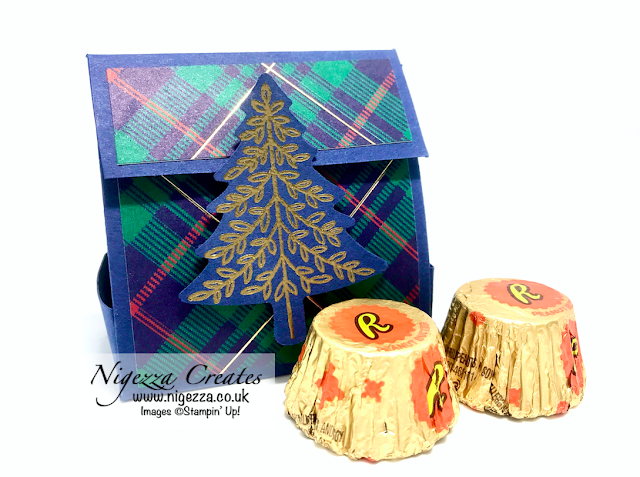 Nigezza Creates with Stampin' Up! Wrapped In Plaid , Perfectly Plaid & Reece's Mini Cups
