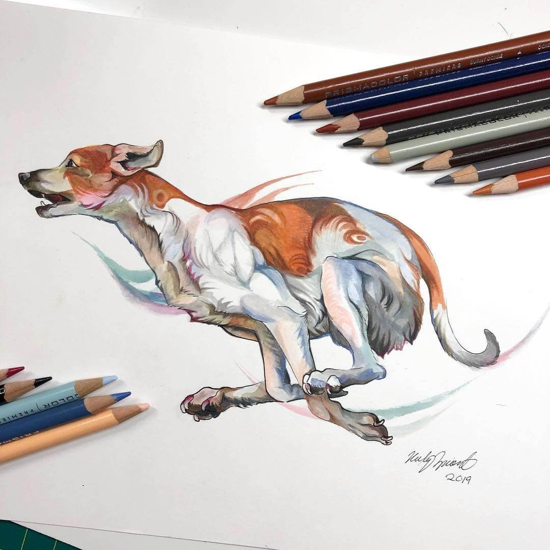 07-The-Hound-K-Lipscomb-Fantasy-and-Real-Life-Animal-Drawings-www-designstack-co