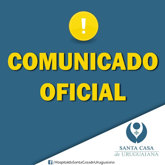 SANTA CASA DE URUGUAIANA EMITE NOTA DE ESCLARECIMENTO