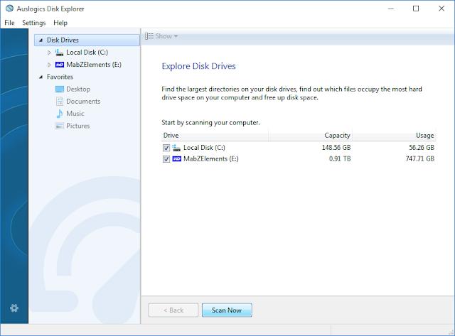 Auslogics Disk Explorer GUI Auslogics Boost Speed 8