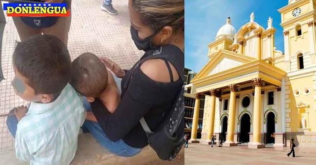 Chavista intentó quemar a sus dos hijos pequeños frente a la Basílica de Maracaibo