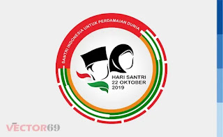 Logo Resmi Hari Santri Nasional (HSN) 2019 Santri Indonesia Untuk Perdamaian Dunia - Download Vector File EPS (Encapsulated PostScript)