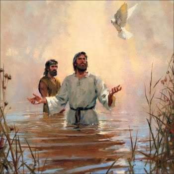 Dove descending on Jesus at His baptism - Artist unknown