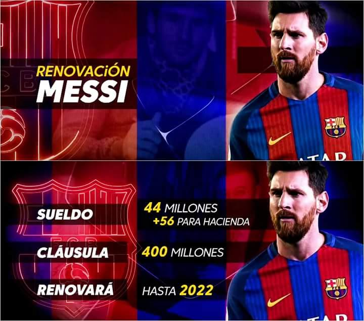 برشلونة يعلن رسميا تجديد عقد ميسي