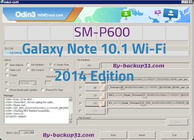 سوفت وير هاتف Galaxy Note 10.1 Wi-Fi 2014 Edition موديل SM-P600 روم الاصلاح 4 ملفات تحميل مباشر