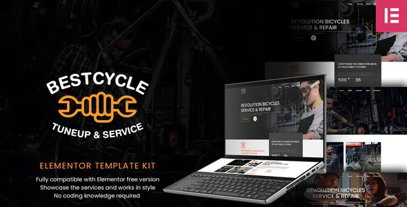 Best Bicycle Repair and Service Elementor Template Kit