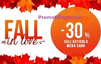 Logo Pittarello Fall in Love : 30% di sconto sul prodotto meno caro