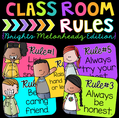Classroom rules for the primary classroom