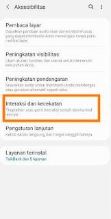 Interaksi screenshot Samsung a12