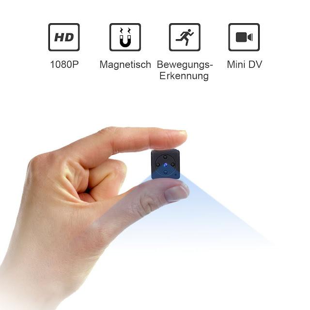 Mini Kamera,NIYPS Full HD 1080P Tragbare Kleine Überwachungskamera, Mikro Nanny Cam mit Bewegungserkennung und Infrarot Nachtsicht, Compact Sicherheit Kamera für Innen und Aussen Preis