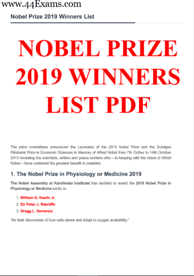 Nobel-Prize-2019-Winners-List-PDF