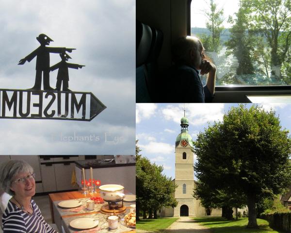 Train, cheese fondue and Schönenwerd church