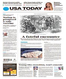 USA Today Magazine 25 And 26 November 2020   USA Today News   Free PDF Download
