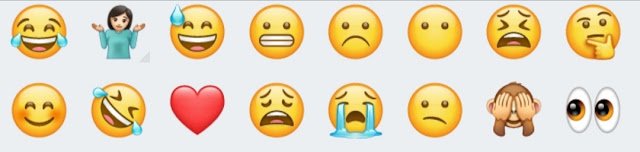 My 16 most frequently used emojis