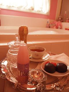 Marie Arden Pink Living Bubble Bath Tea Time A Bit