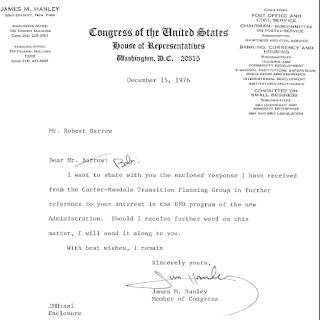 Letter from Congressman Hanley To Robert Barrow 12-15-1976