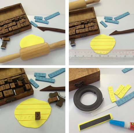 DIY Craft Kit: Word Clay Magnets