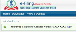 your pan is linked to aadhar number