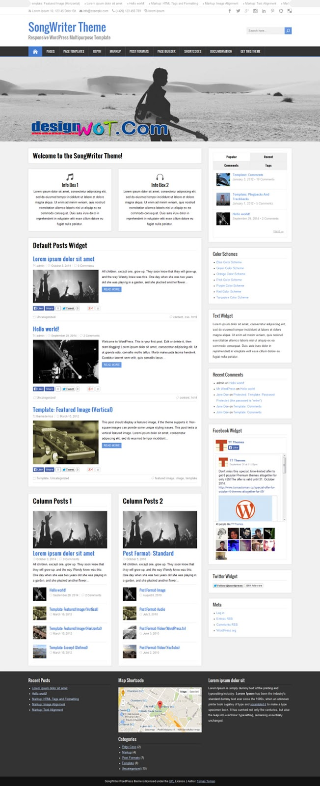 SongWriter Music WordPress Theme