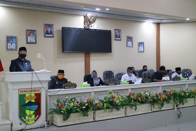 DPRD Tanggamus Setujui LKPJ Bupati Tahun 2019