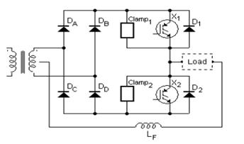 simplified-half-bridge-output-inverter-circuit-diagram