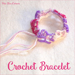 Crochet Bracelet with Butterflies
