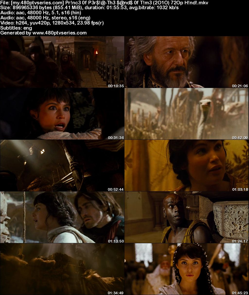 Prince Of Persia The Sands Of Time 2020 Hindi Dual Audio