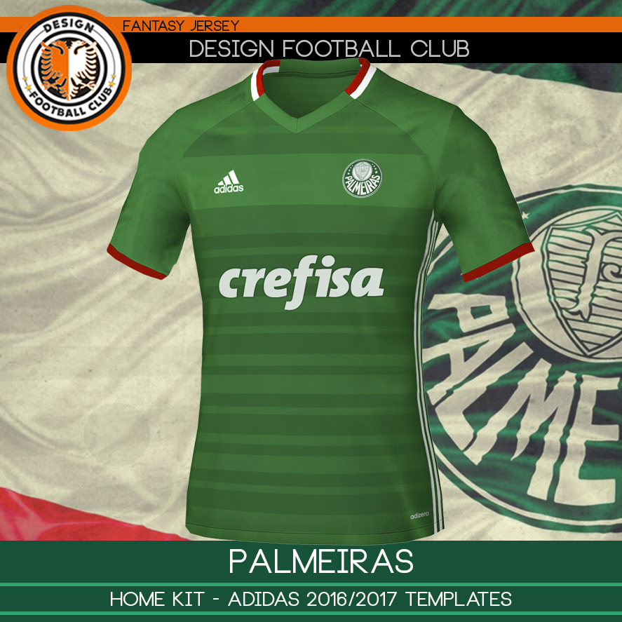 Design Football Club  Palmeiras - Adidas 2016 2017 273181ee41f72