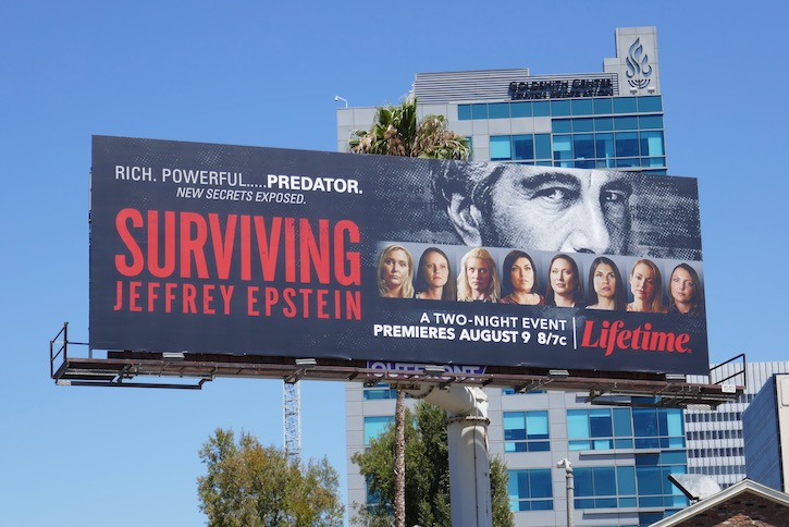 Surviving Jeffrey Epstein series premiere billboard