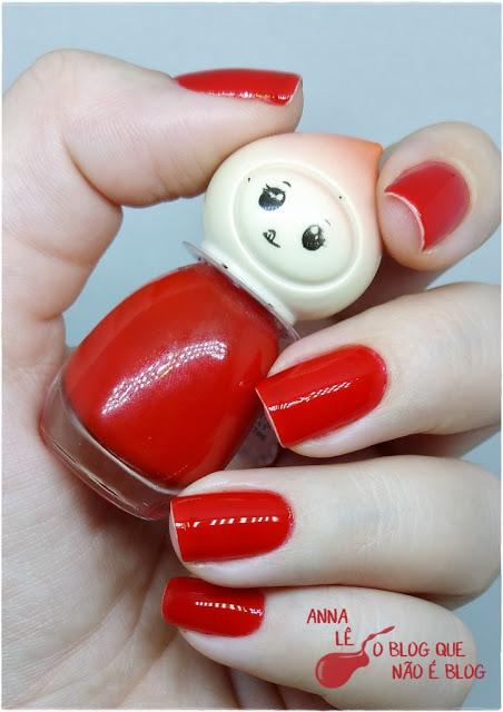 Bonequinha BK Esmalte Nailpolish Vermelho Red