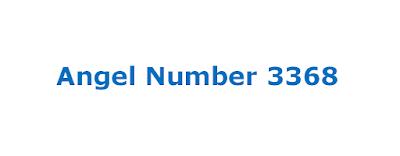 angel number 3368