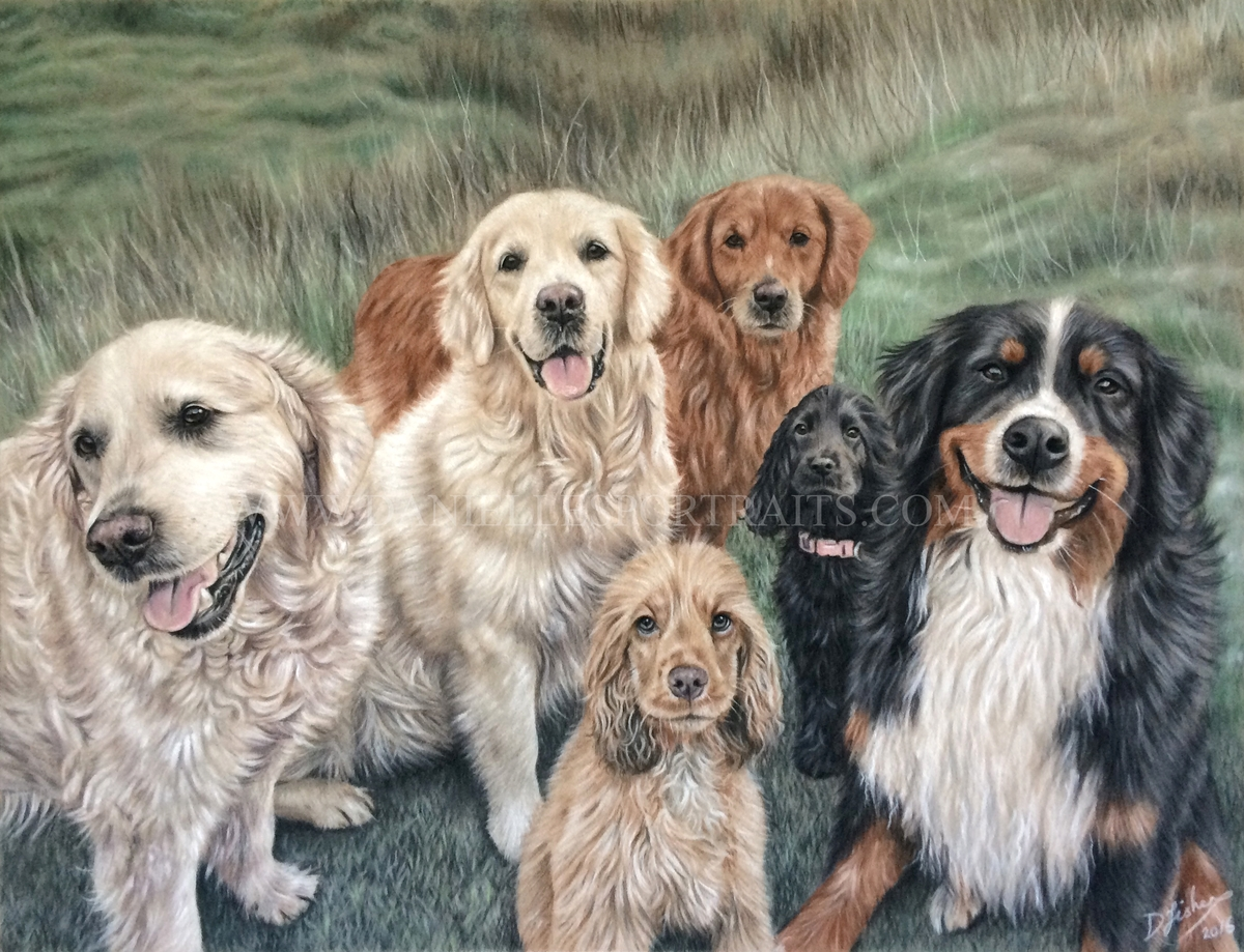 09-Group-Photo-Danielle-Fisher-Realistic-Pet-and-Wildlife-Portraits-www-designstack-co
