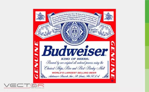 Budweiser (1987-1999) Label - Download Vector File CDR (CorelDraw)