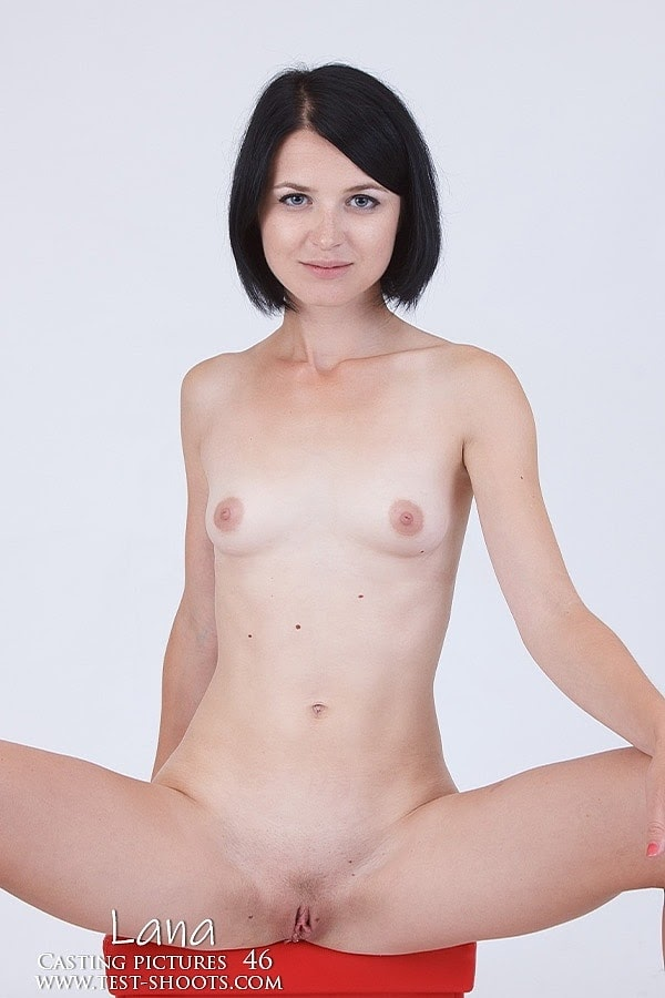 [Test-Shoot.Com] Lana - Short Hair Skinny Teenager Lana In Nude Casting - idols