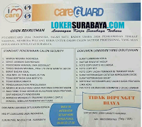 Walk In Interview at PT. Careguard Jasa Indonesia Surabaya Desember 2019