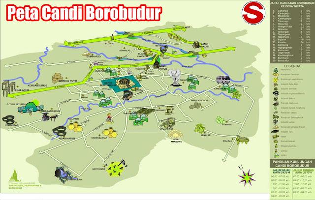 Gambar Peta Wisata Candi Borobudur