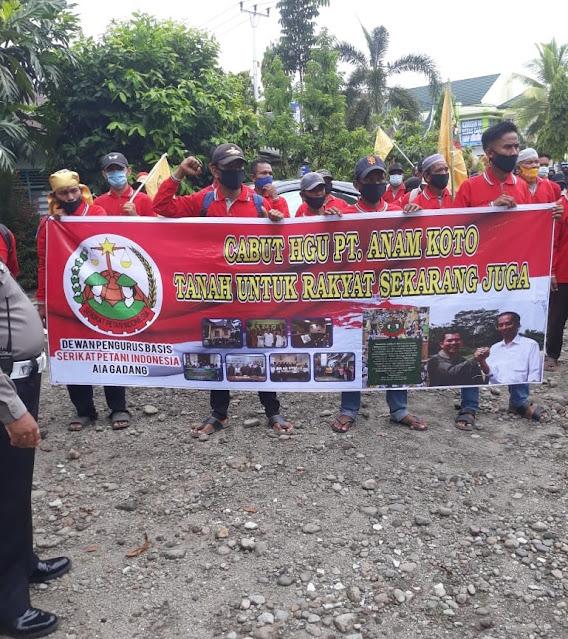 Gelar Aksi Unjuk Rasa, Masyarakat Air Gadang HGU PT Anam Koto Dicabut