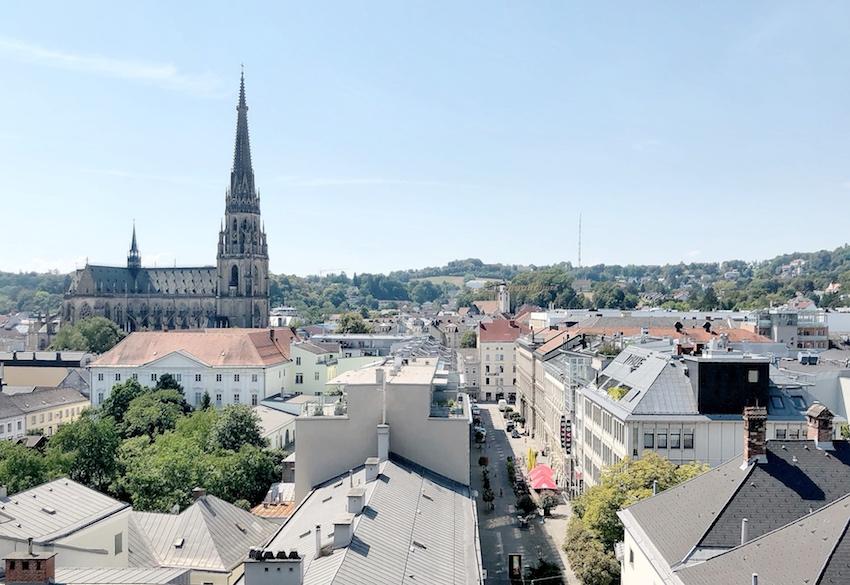 Ausblick über Linz, Höhenrausch