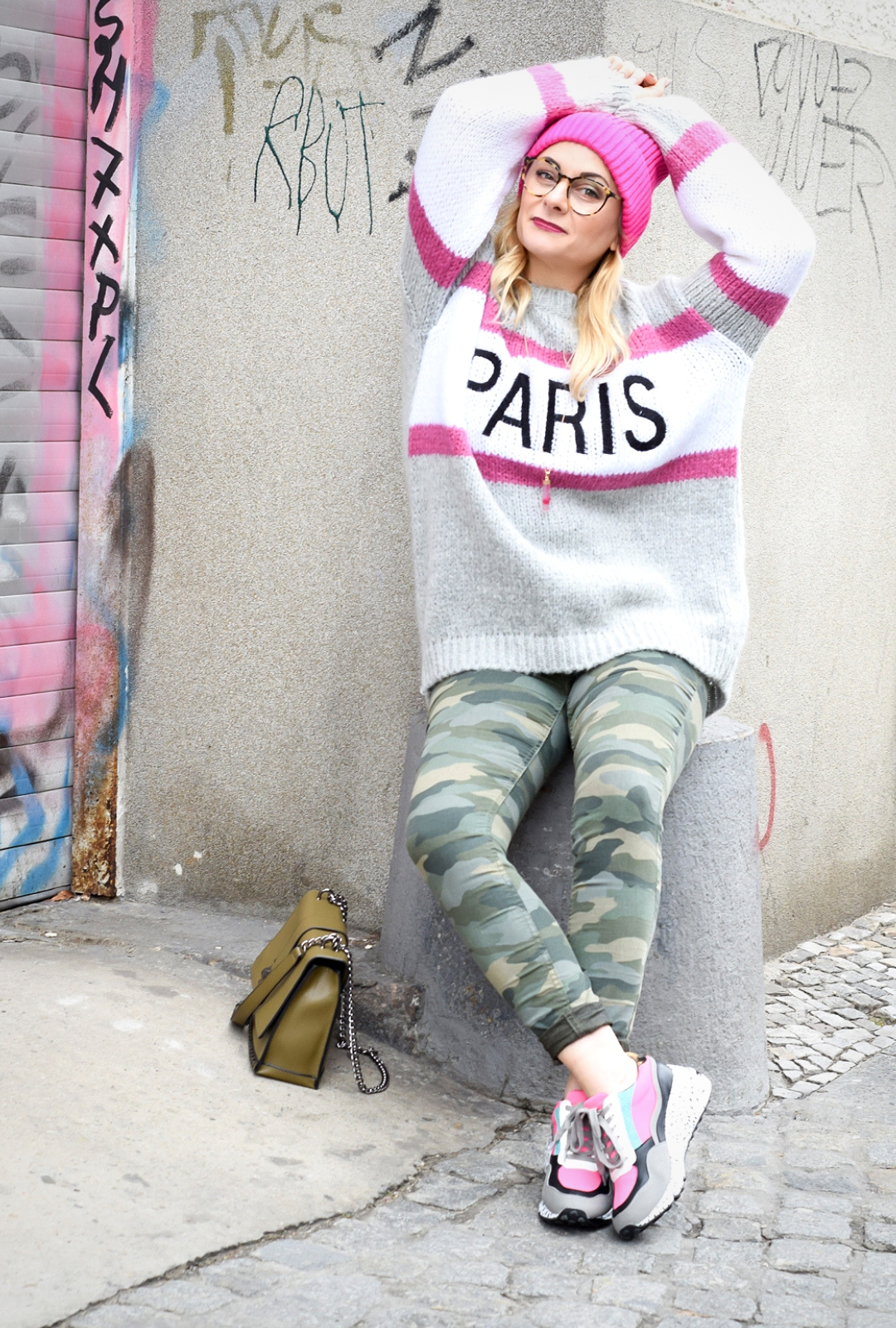 Camouflage Hose, Pullover PaulxClaire