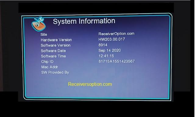GX6605s F1, F2 Hw203.00.017 HD Receiver New Software