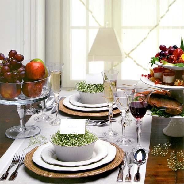 mesa natal fácil bonita