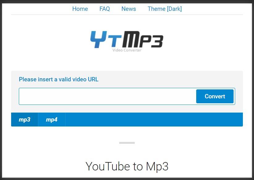 fitur YTMP3.cc untuk konversi video menjadi audio