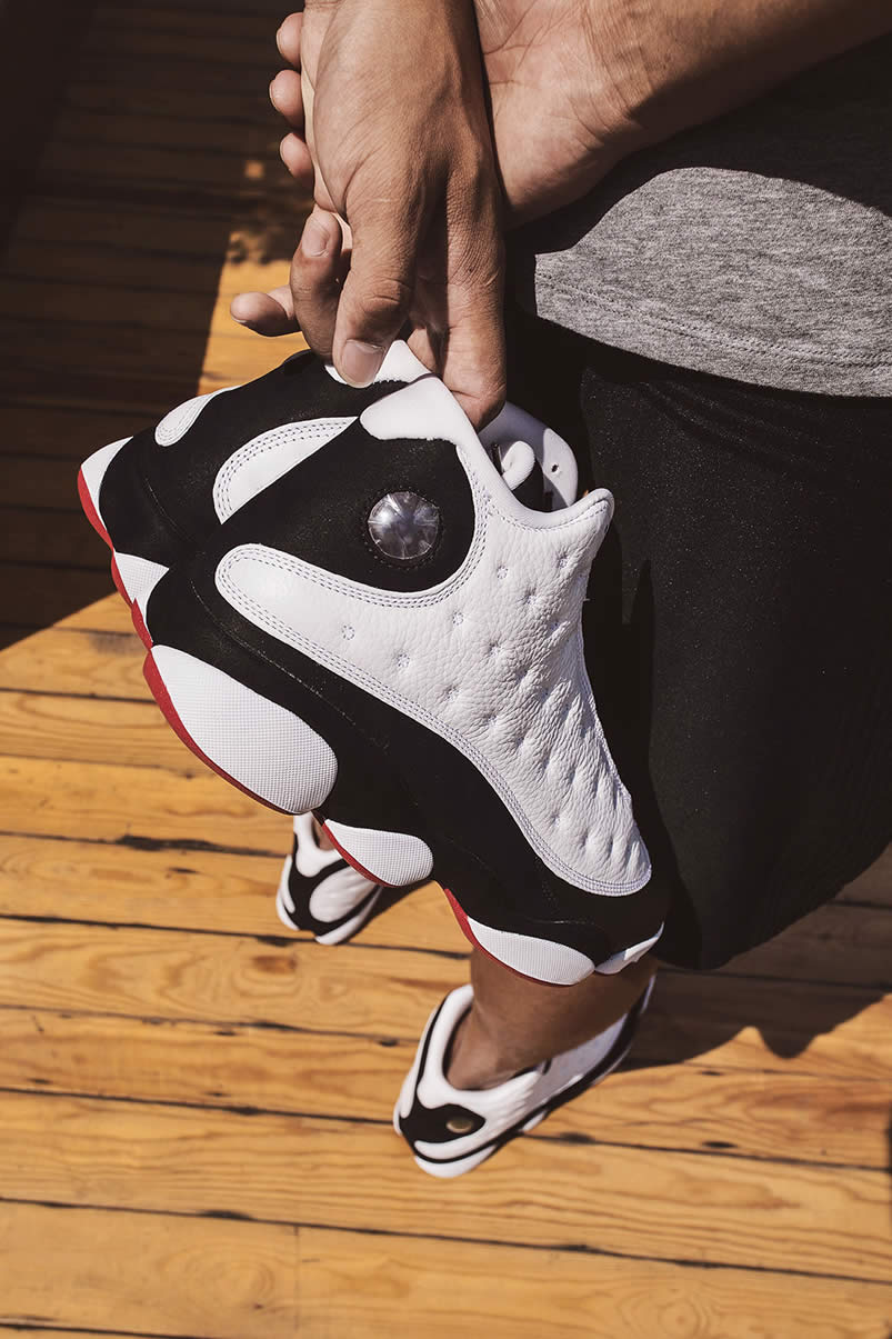 first rate bcda2 3649c Air Jordan 13  He Got Game  2018 Black And White Outfit On Feet For Sale  414571-104 - www.anpkick.com