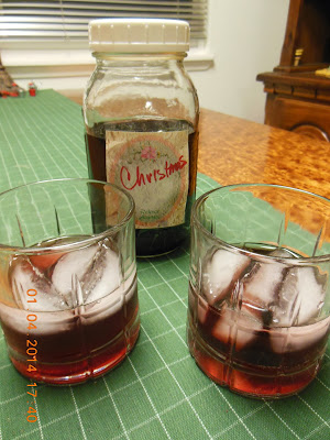 "Homemade Christmas ""Brandy"", not true brandy, but festive, easy and delicious!"