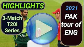 England vs Pakistan T20I Series 2021
