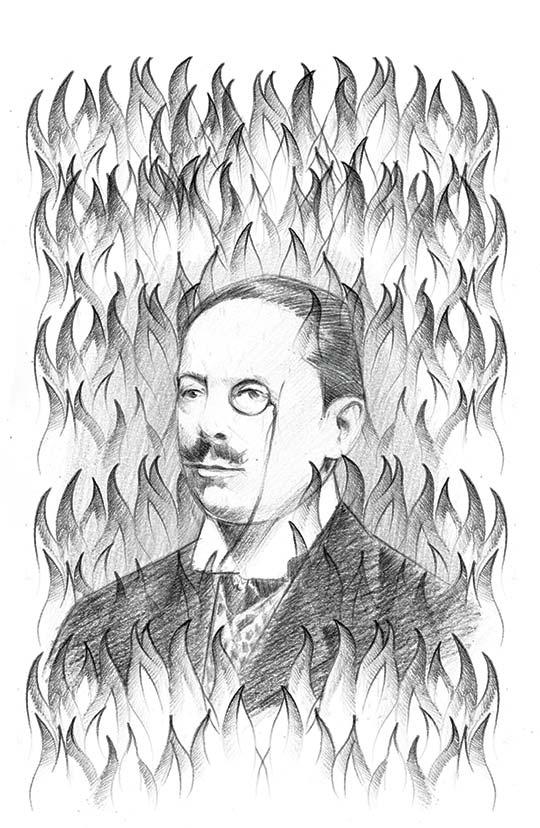 Retrato de José María Vargas Vila por Marco Pinto