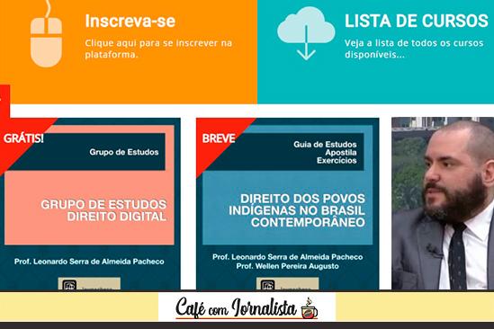 O advogado Leonardo Pacheco e seu portal de ensino